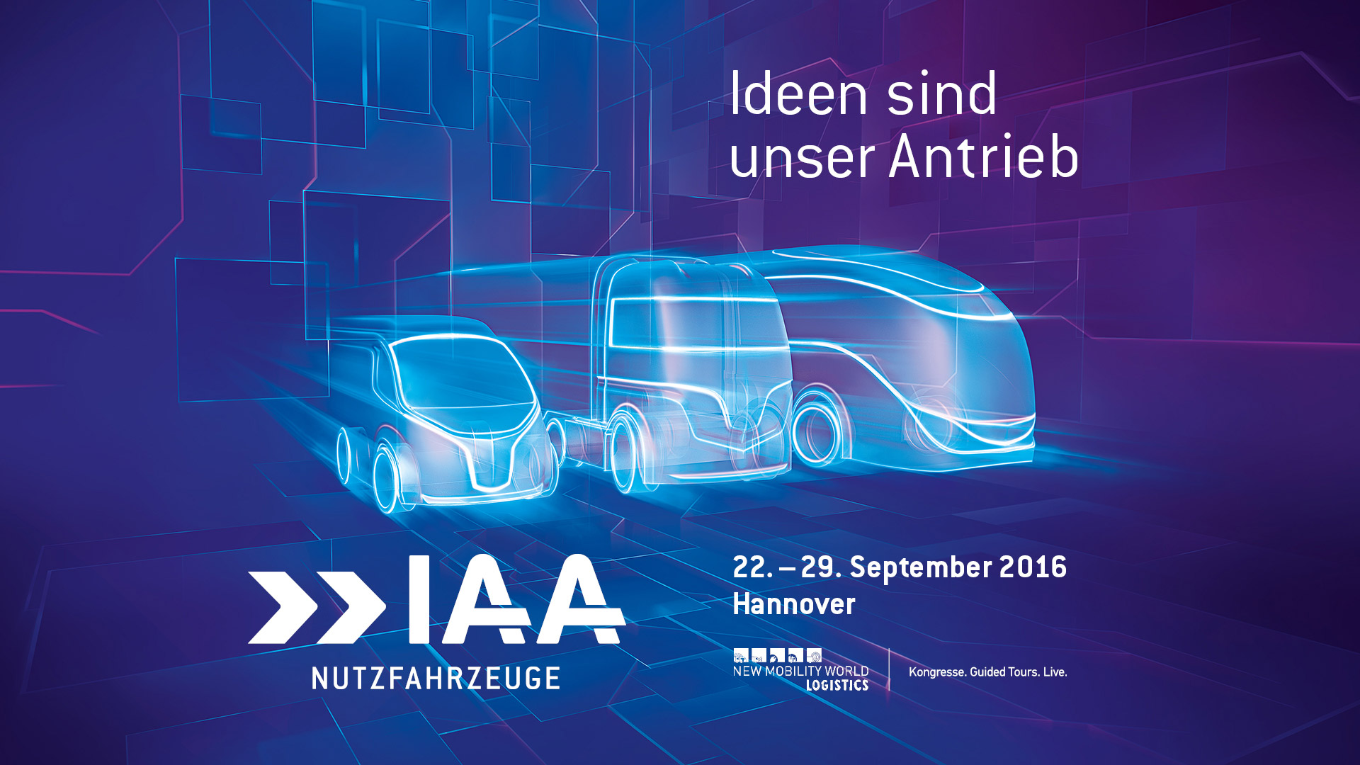 Messebanner IAA 2016 Hannover deutsch