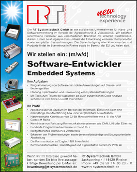 Softwareentwickler Embedded Systems