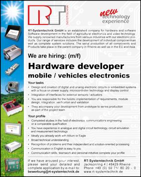 job offer hardware developer mobile and vehicles electronics