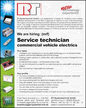 job offer service technician commercial vehicle electrics
